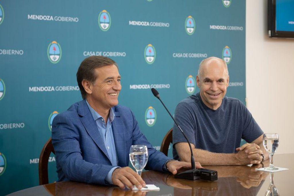 Rodolfo Suarez y Horacio Rodríguez Larreta