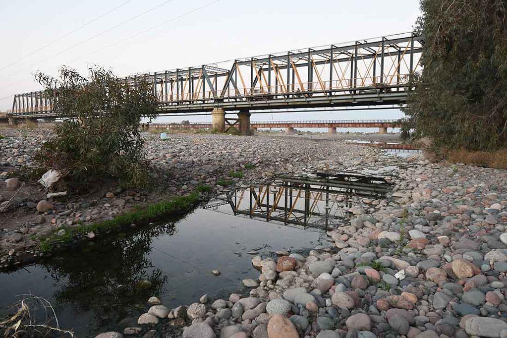 Poco caudal de agua en los rios de la provincia de Mendoza. Foto: José Gutiérrez / Los Andes