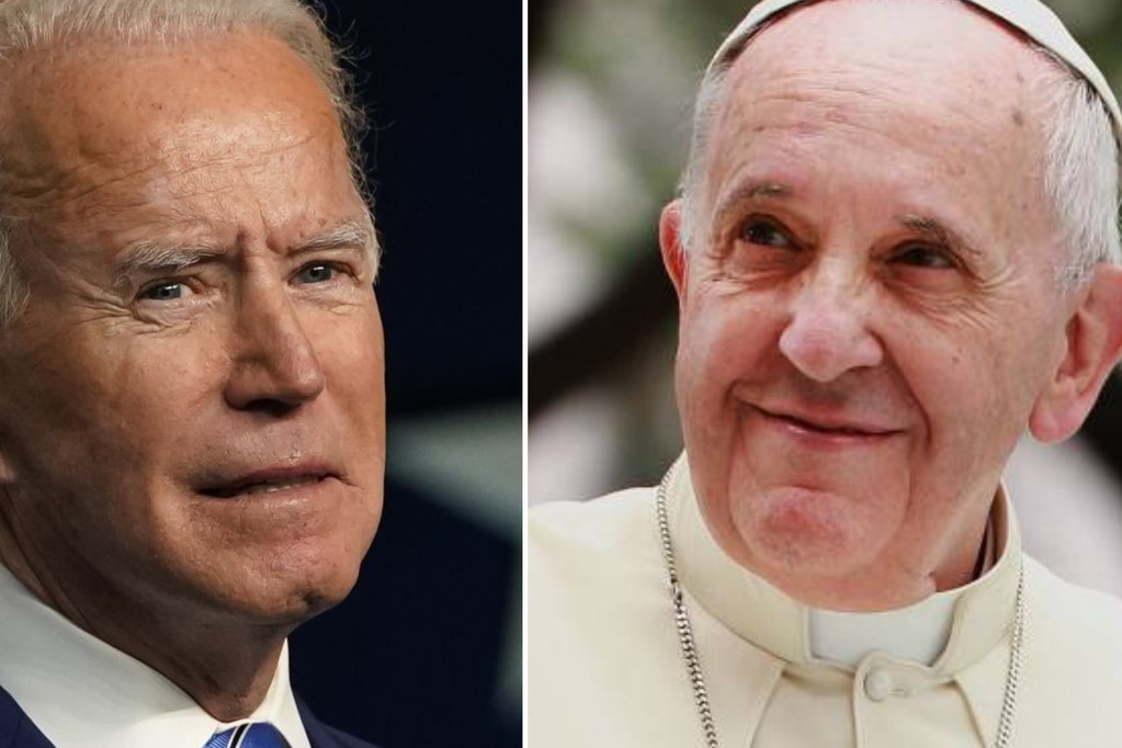 El papa Francisco habló por teléfono con Joe Biden y lo felicitó por el triunfo electoral