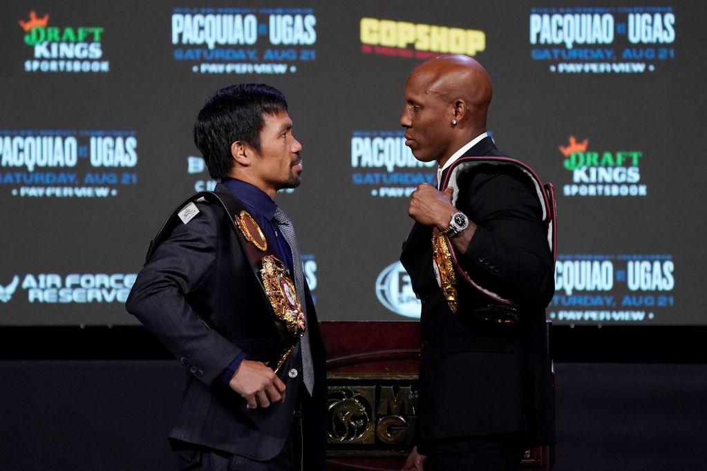 Por el título: Pacquiao vs Ugas. /AP