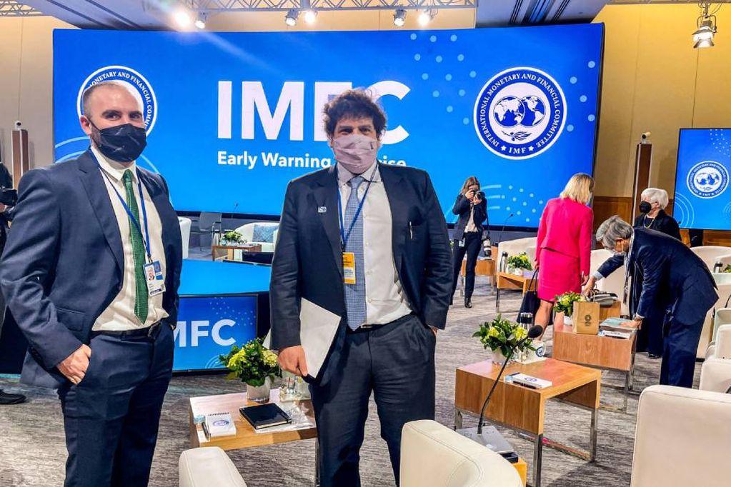 El ministro de Economía, Martín Guzmán, y el director por el Cono Sur ante el FMI, Sergio Chodos, formaron parte de las deliberaciones.
