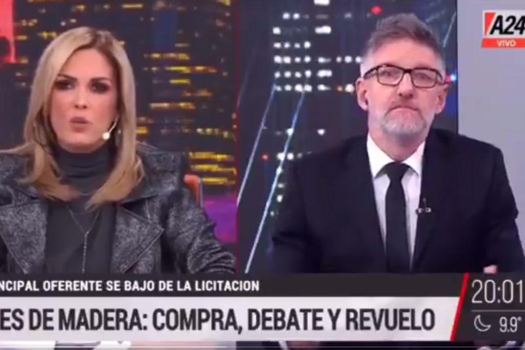 Luis Novaresio cruzó a Viviana Canosa por sus cuestionamientos a los penes de madera