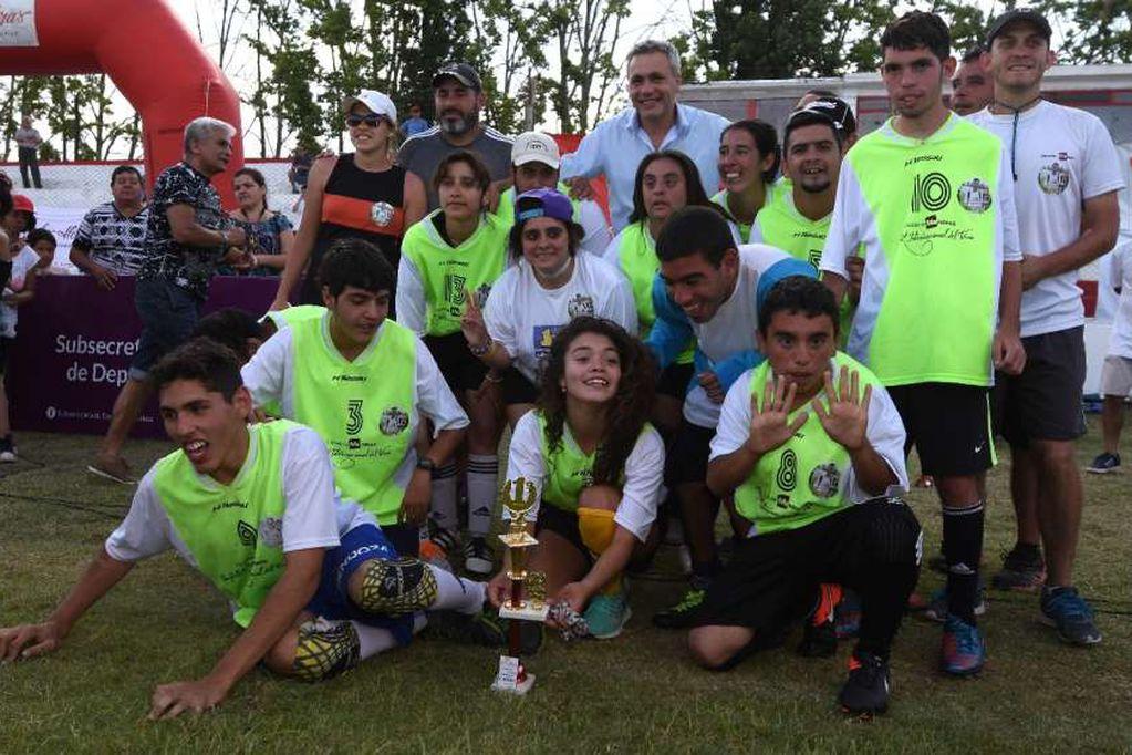 Liga Mendocina de Fútbol 5 adaptado. /Archivo- Los Andes