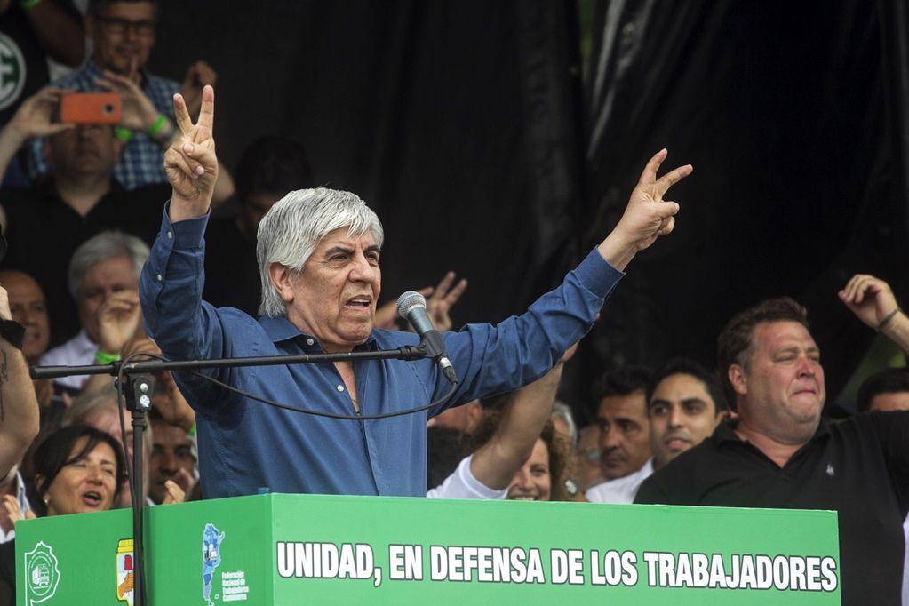 """Moyano, en la marcha de la CGT: """"No tengo miedo de ir preso"""""""