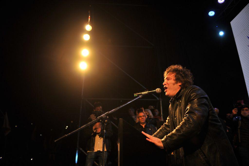 Cierre de campaña Javier Milei - Foto Clarín