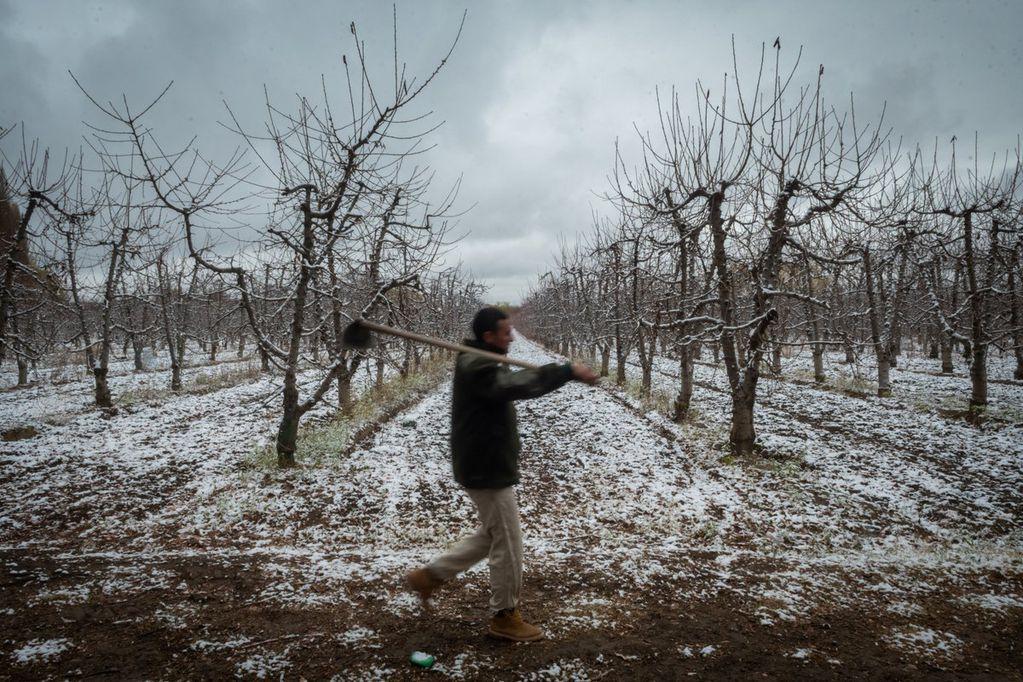 La nieve comenzó a despedir el otoño en varios sitios de Mendoza