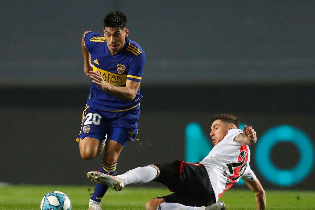 El volante una de las figuras de Boca, se perderá el SUPERCLÁSICO POR un esguince en el ligamento colateral lateral. / Gentileza.