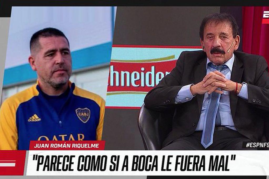 """Riquelme muy duro con  el periodista Roberto Leto: """"Nunca criticaste a la dirigencia anterior"""""""