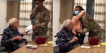 Un veterano de la II Guerra Mundial guardó durante 12 años la carta de una niña y por fin pudo reunirse con ella