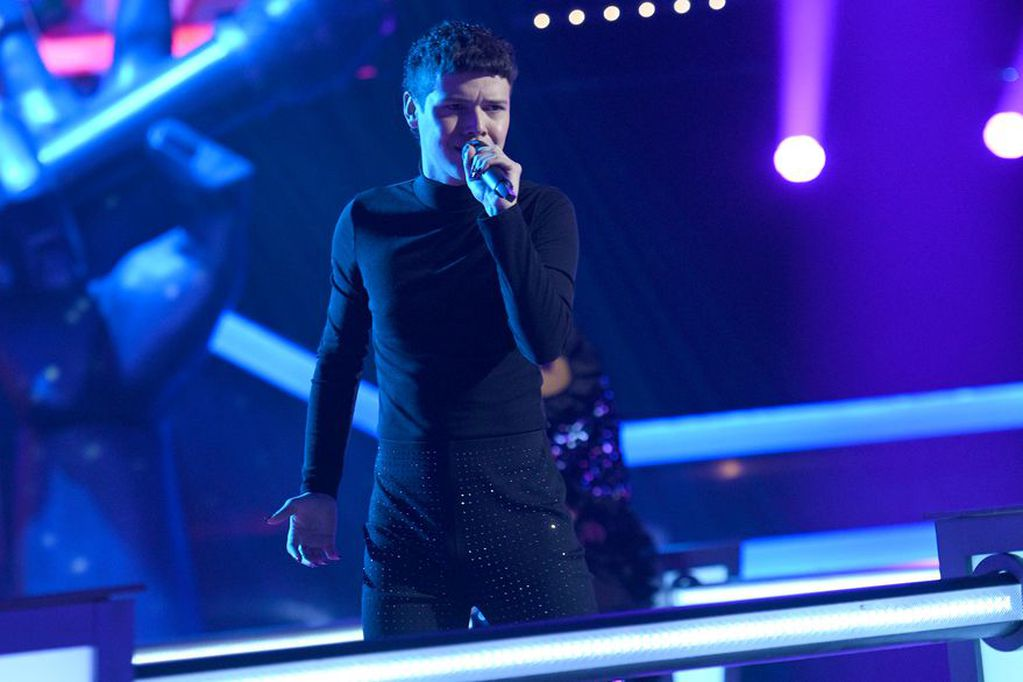 El cantante entrerriano manifestó su tristeza al terminar la primera semifinal.
