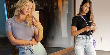 El duelo de estilos y moda de Wanda Nara y Antonela Roccuzzo, las mujeres de los argentinos del PSG