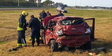 Accidente automovilístico en Entre Ríos.