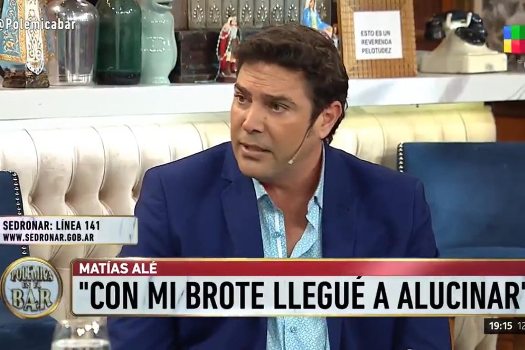 """Tras lo ocurrido con el Chano, Matías Alé recordó su brote psicótico: """"Me sentía como el Increíble Hulk"""""""