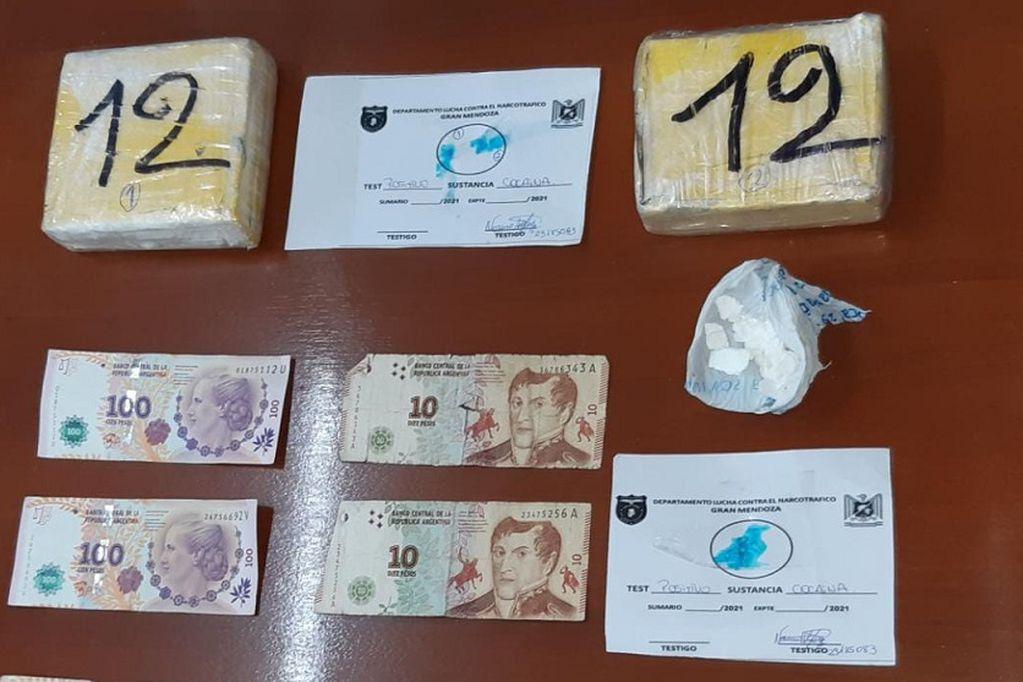"""Arrestaron a un """"delivery de droga"""" de Las Heras con cocaína valuada en $1,5 millones"""