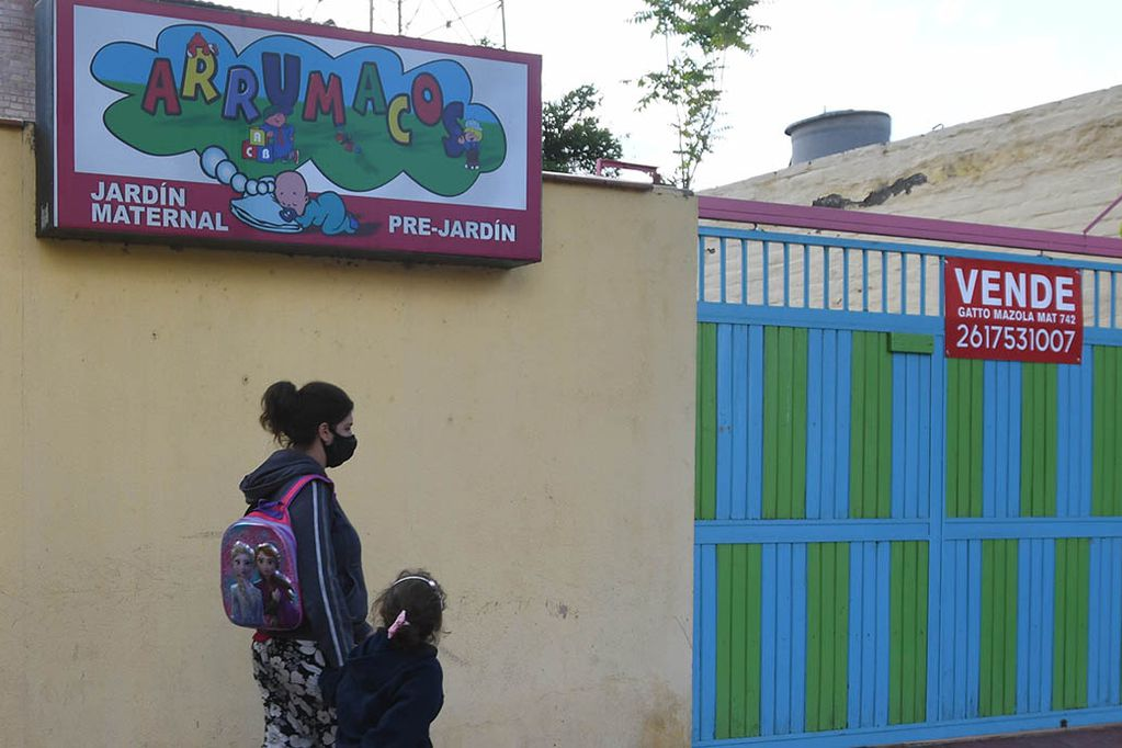 Muchos jardines maternales cerraron sus puertas, por la pandemia y la crisis económica.