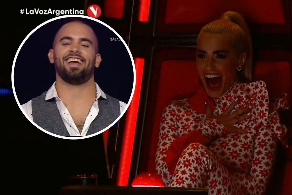 Lali Espósito volvió a coquetear con Facundo Giovos en La Voz Argentina y hubo intercambio de mensajes