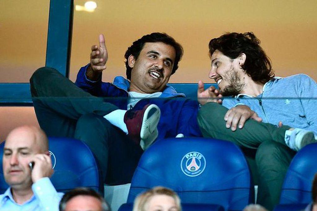 Ele x tenista argentino es un hombre de negocios que terminó con una fuerte relación de negocios con el emir dueño del PSG.