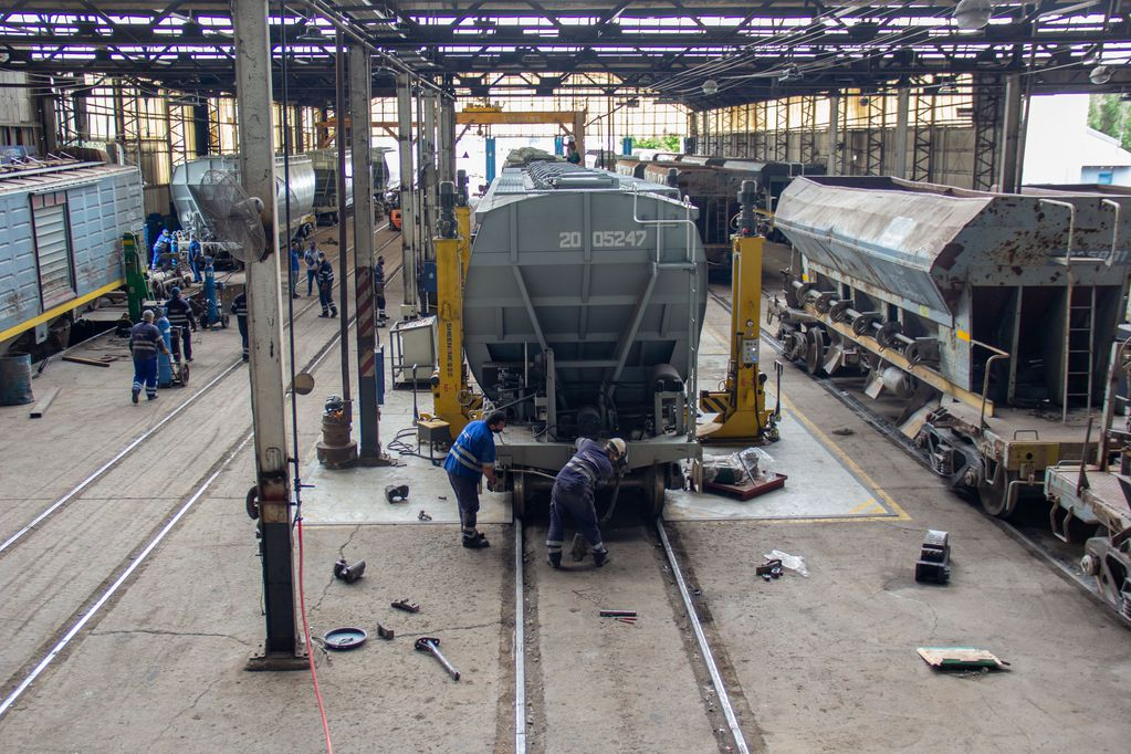 Talleres ferroviarios de Palmira, a plena marcha