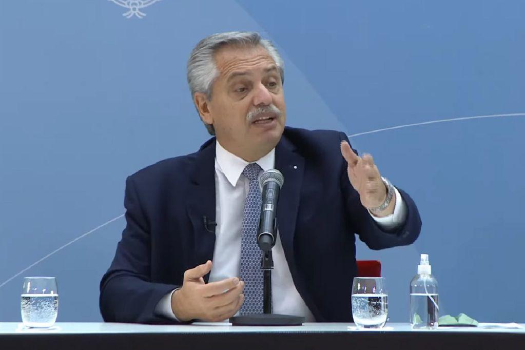 Alberto Fernández en conferencia de prensa después de las PASO