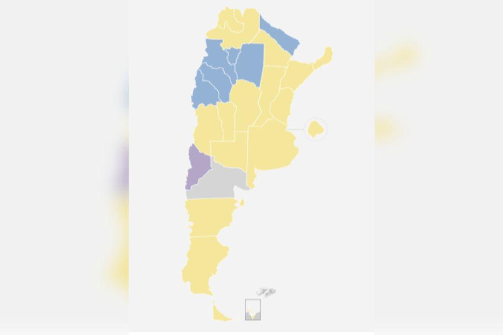 Mapa electoral: mirá los resultados de las PASO 2021 en todo el país