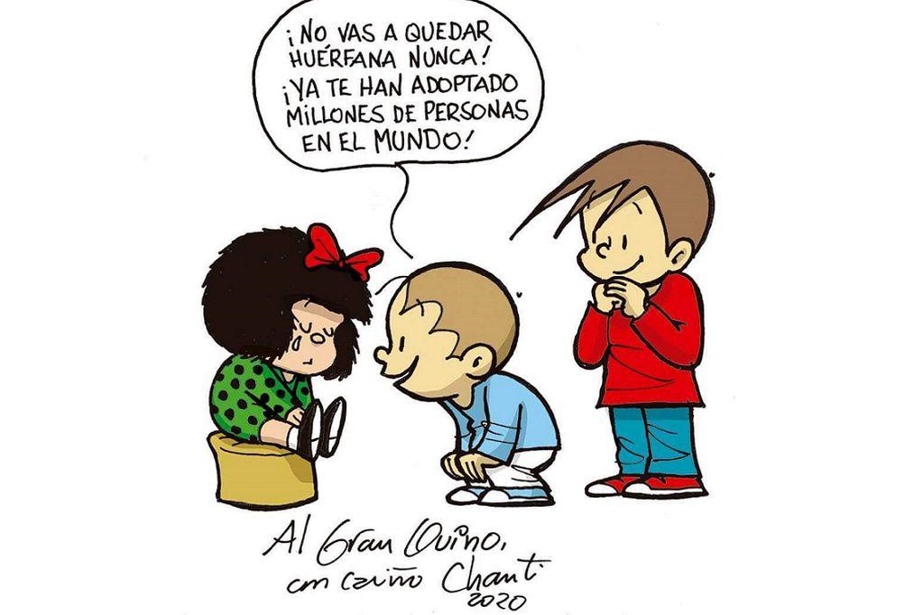 """El mendocino Chanti y su homenaje a Quino: """"Fue un filósofo del dibujo"""""""