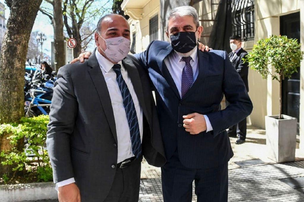 Juan Manzur y Aníbal Fernández (Foto: Presidencia)