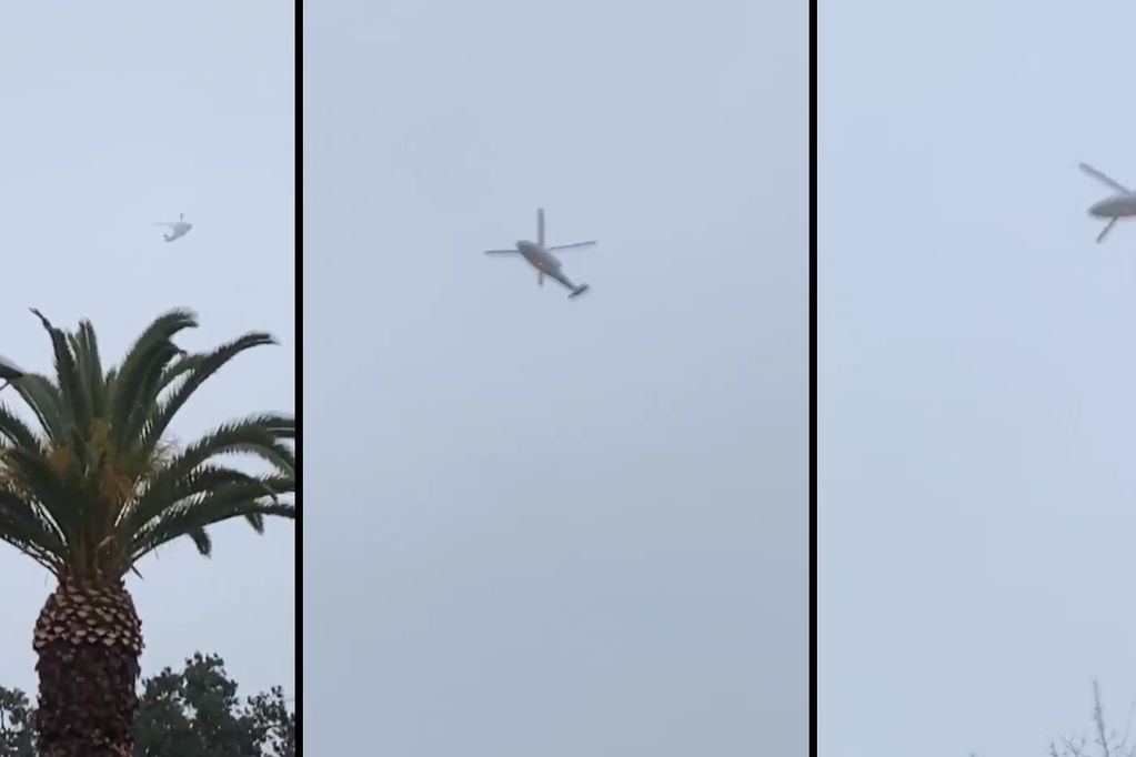 El video que muestra el helicóptero de Kobe Bryant volando en círculos en la neblina