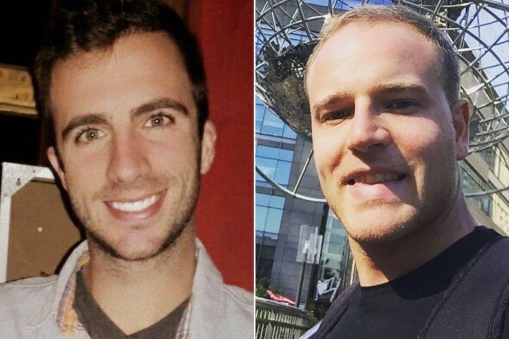 """Protagonistas, Rivas (izquierda) y """"Lucho"""" Moreno."""