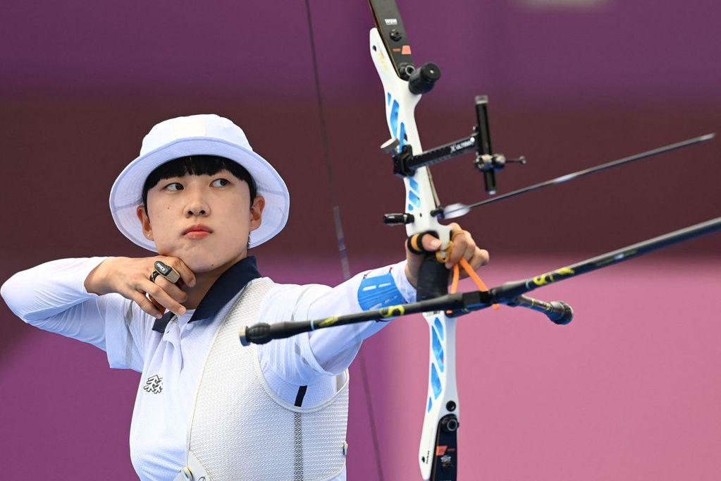 "An San, la arquera que ganó tres medallas de oro pero recibe insólitas críticas por su corte ""feminista"""