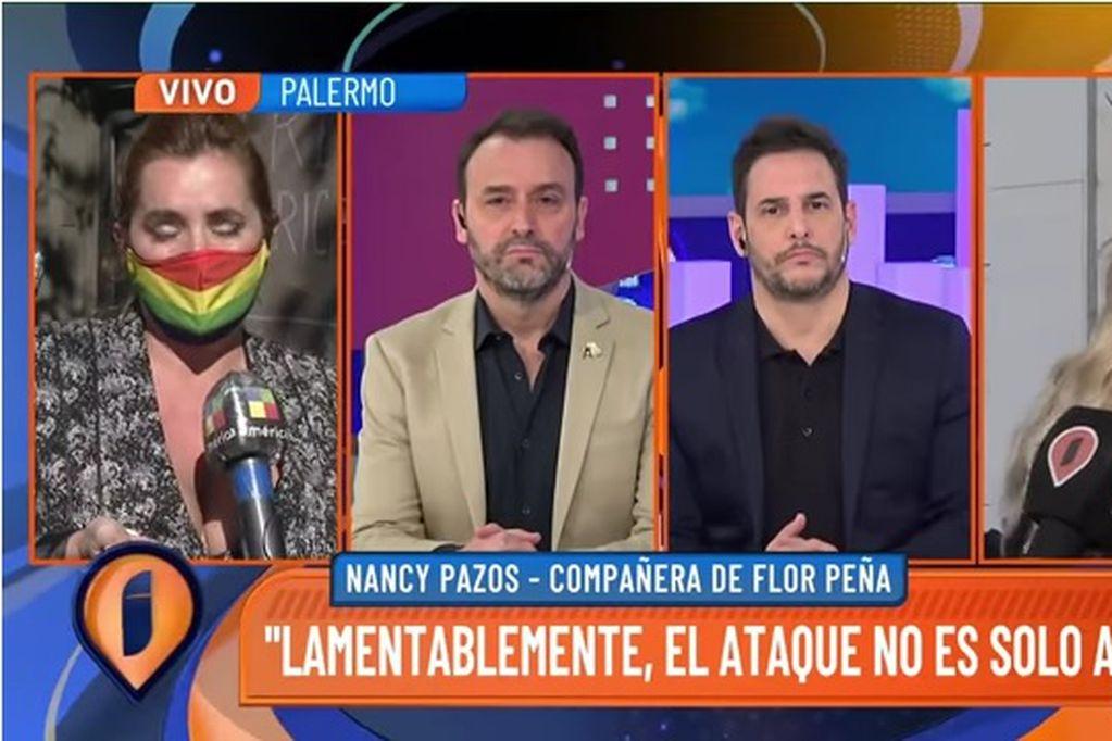 Confuso episodio: Adrián Pallares cortó a Nancy Pazos mientras hablaba del colapso de Flor Peña