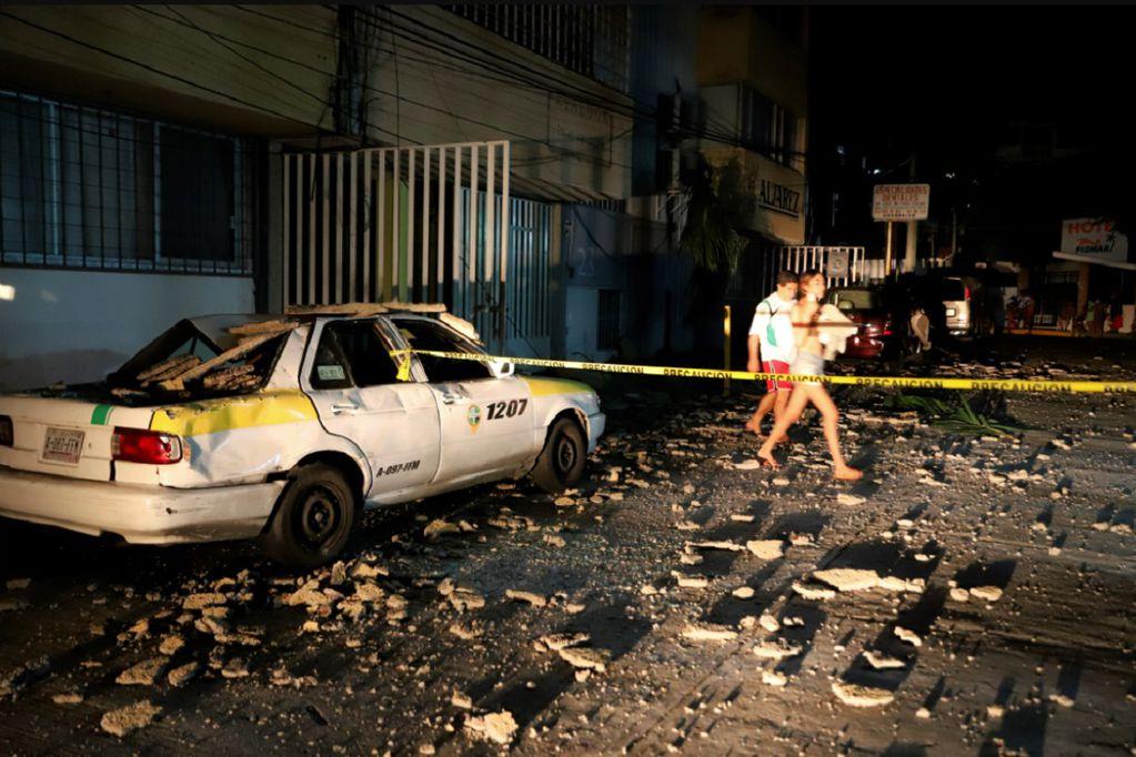 Fotos y videos: un muerto, destrozos y crisis de nervios tras el sismo de magnitud 7,1 en México