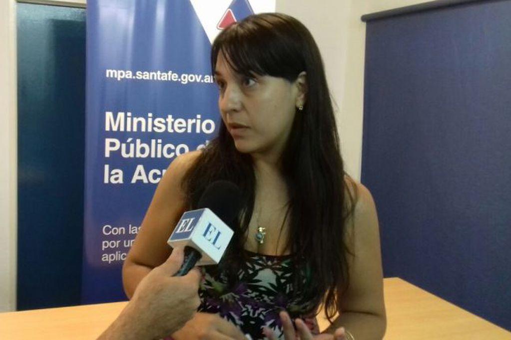 La fiscal Alejandra Del Río Ayala