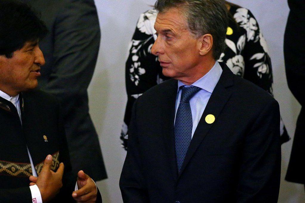 Evo Morales y Mauricio Macri mantuvieron algunas reuniones mientras ambos eran presidentes.