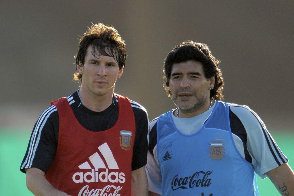 Lionel Messi se acordó de Diego Maradona y le dedicó la Copa América