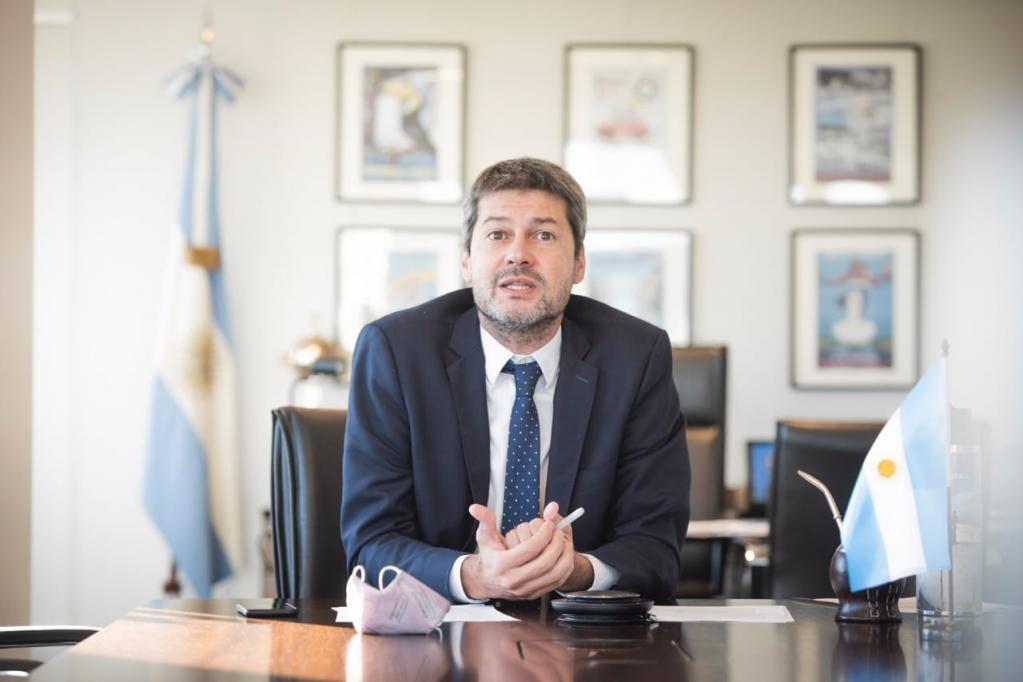 El ministro Matías Lammens habló sobre la concurrencia del público a los esadios de fútbol el último fin de semana. / Gentileza.