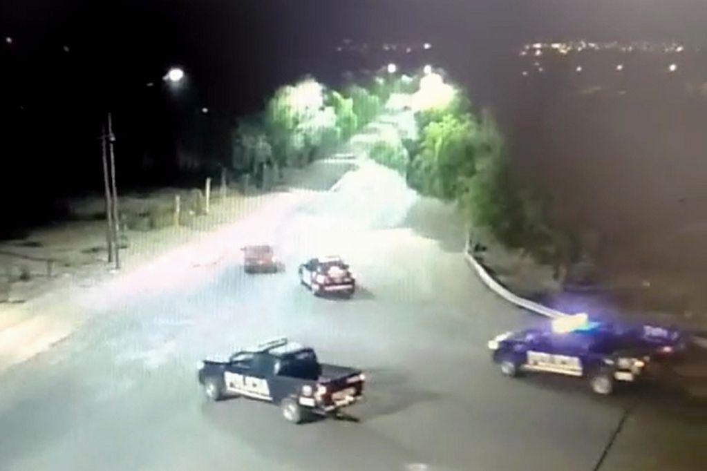 Como salido de una película: el video de una frenética persecución en el Parque