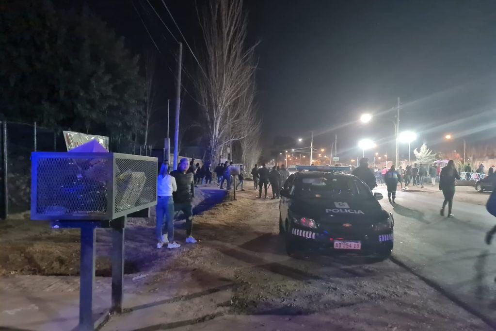 Una de las fiestas desactivadas en el Gran Mendoza. / Gentileza Ministerio de Seguridad.