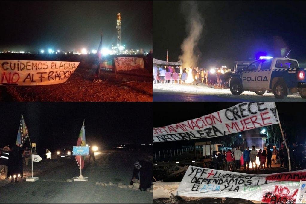 Comunidades Mapuches bloquean accesos a Vaca Muerta contra el fraking. Archivo