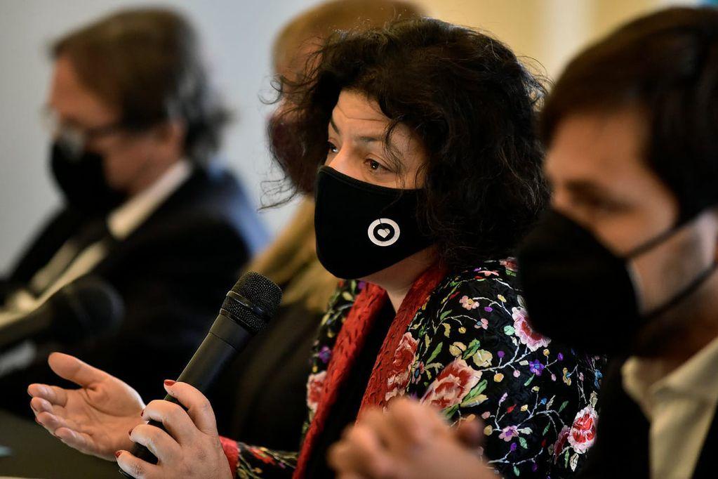 La ministra de Salud de la Nación, Carla Vizzotti, en el marco del Consejo Federal de Salud (Cofesa)