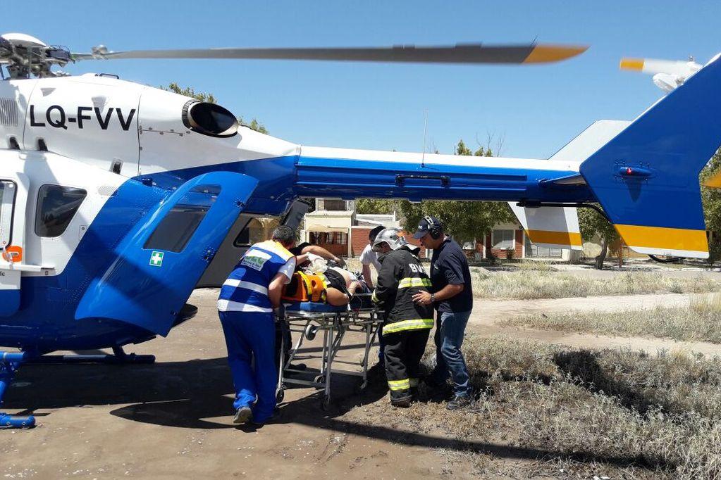 El cuerpo del deportista debió ser rescatado por el personal de la Patrulla de Rescate y del Cuerpo de Aviación Policial. Archivo / Los Andes