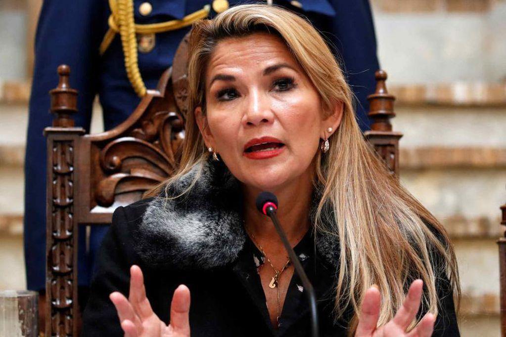 La ex presidente Jeanine Añez lanzó desde prisión un dramático mensaje. Foto: Archivo/ AP.