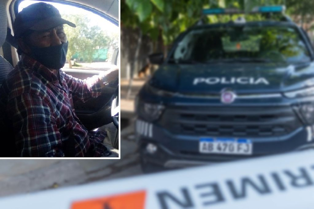 La víctima, a quien le robaron dinero y su camioneta.