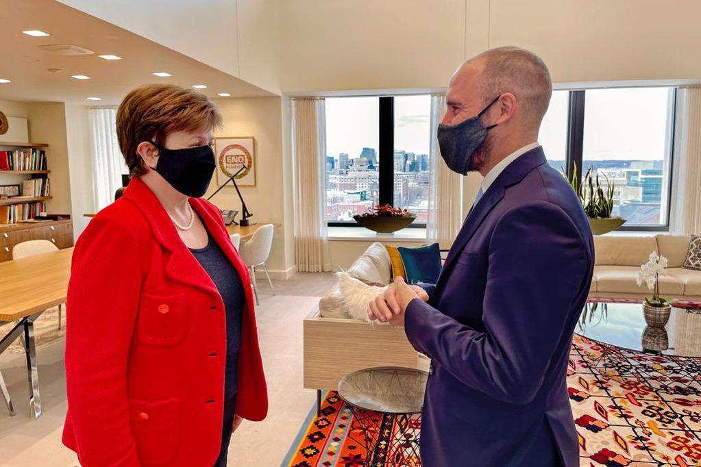 Martín Guzmán llega a Washington en el peor momento de Kristalina Georgieva.