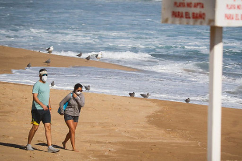 En Viña del Mar hay restricciones y uso de tapabocas obligatorio en las playas - Gentileza / Agencia Uno