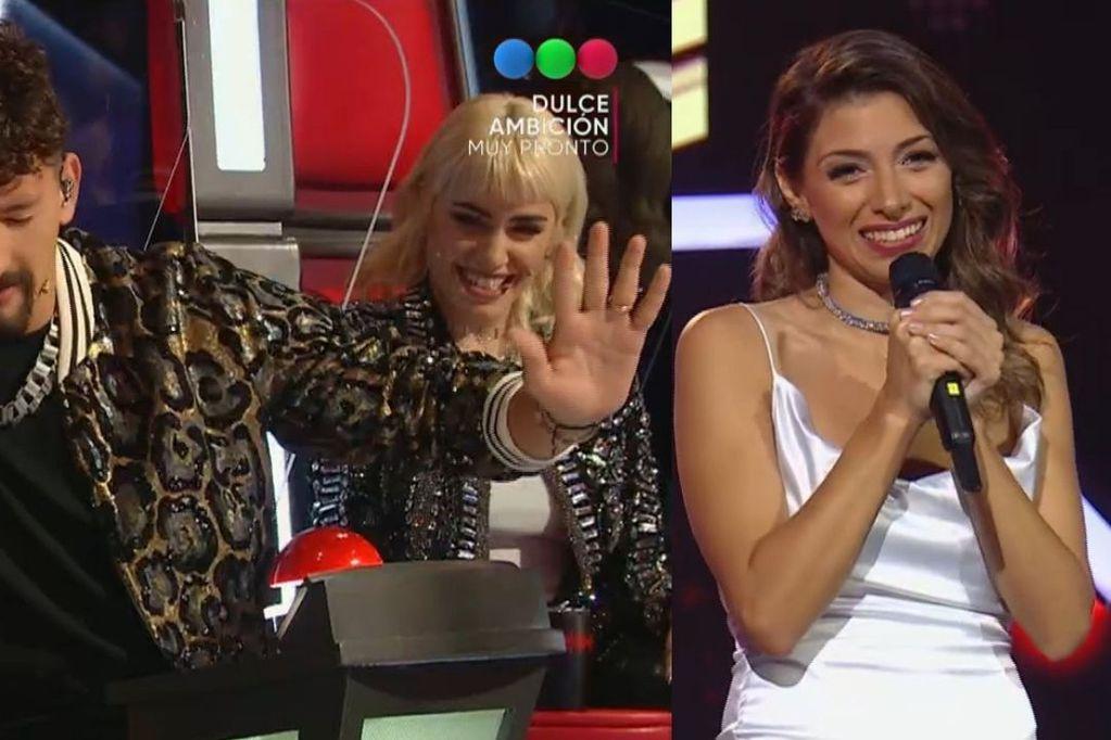 Súper codiciada: Mau y Ricky rezaron en vivo para que Jéssica, una participante de La Voz Argentina, los elija