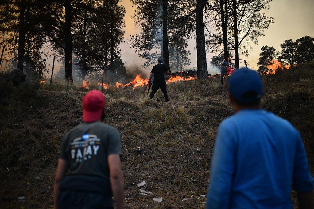 Incendios forestales en Potrero de Garay, Córdoba: Foto: Pedro Castillo / La Voz