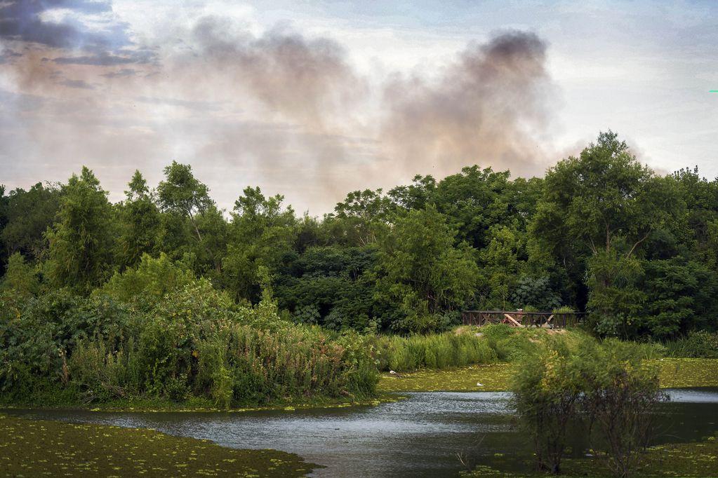 Incendio de pastizales en una reserva ecológica de Buenos Aires