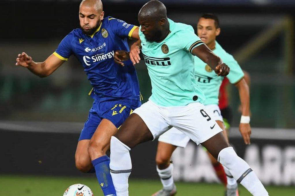 Hellas Verona e Inter igualaron este jueves por 2-2 en un encuentro que le dio continuidad a la trigésima primera fecha de la Serie A. / Gentileza