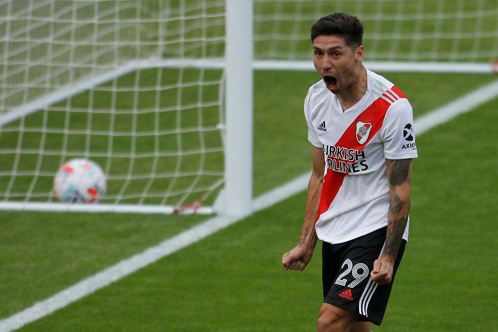 El joven lateral derecho de River, Gonzalo Montiel, seguirá su carrera en el fútbol español. / archivo