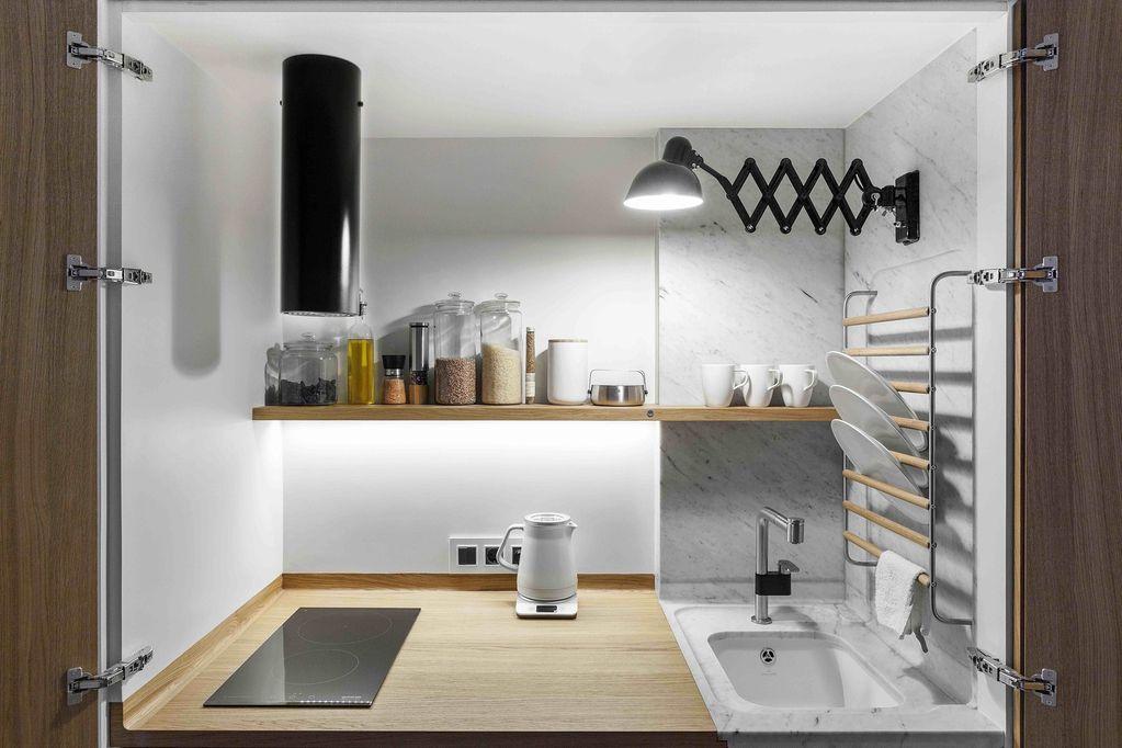 ¿Cómo diseñar una cocina oculta?